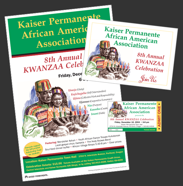 Images of Kwanzaa Celebration - Kaiser Permanente's African American Association